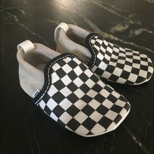 Infant Checkerboard Slip On Black and White